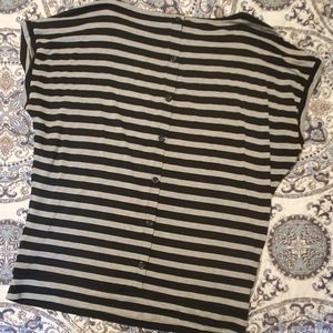 WHBM SS tee with back button detail!